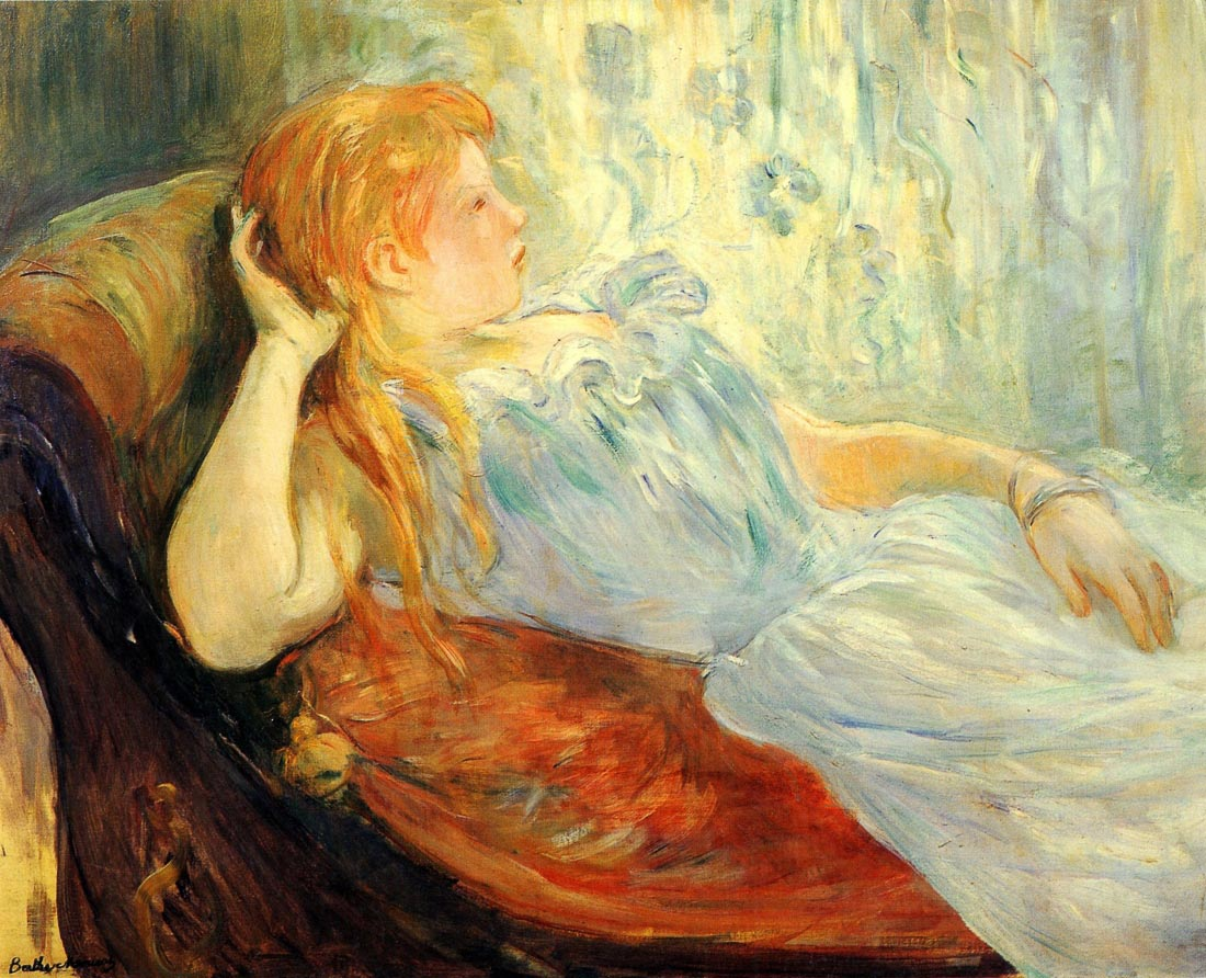 Young girl resting [2] - Morisot